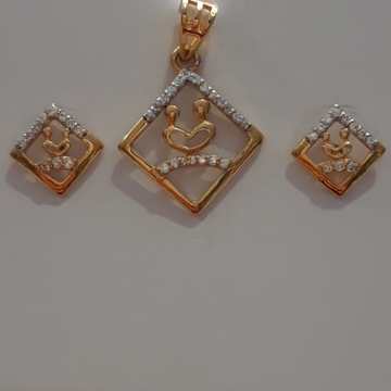 22.k new disainer daymand pendant set by