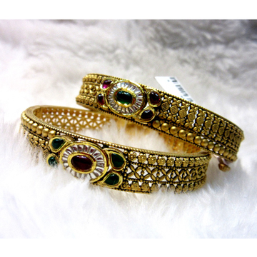 Gold 22k micro carving designer antique jadtar bangles