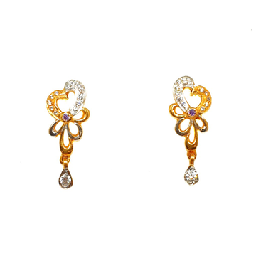 22K Gold Modern Earrings MGA - BTG0169