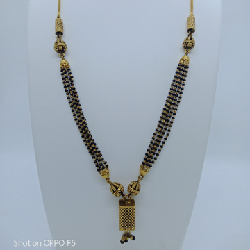 Antique Mangalsutra Dokiya Style Deisgn In 916 Gold