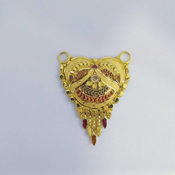 916 Gold Fancy Mangalsutra Pendants RJ-MP015