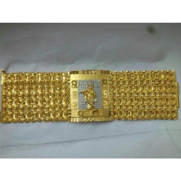 22K / 916 Yellow Gold Modern Bracelet ( Lucky )