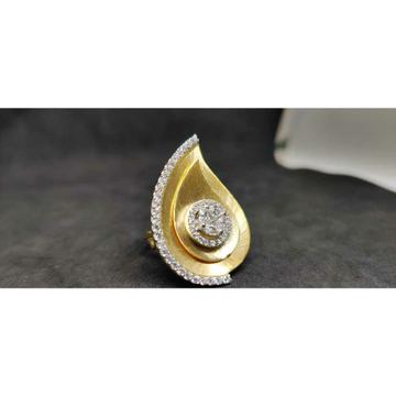 18k Exclusive Cz Ladies Italian Ring Lr-24028