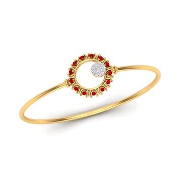 22Kt Gold Designer Bracelet For Women SO-B004 by S. O. Gold Private Limited
