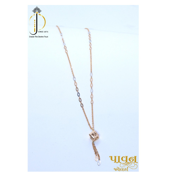 18KT Rose Gold Delicate festival gift Chain with Box Pendant for Ladies CHG0385