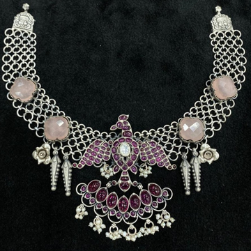Enchanting Pink Pearly Short Choker Necklace by Puran
