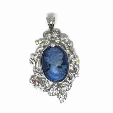 925 sterling silver Victorian stone pendant by Veer Jewels