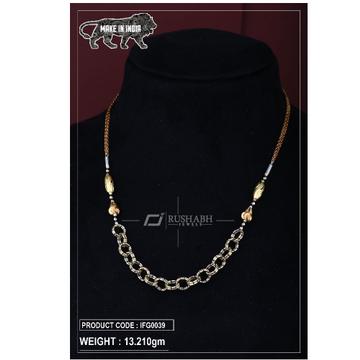 18 carat Italian ladies fancy gold chain round shape ifg0039