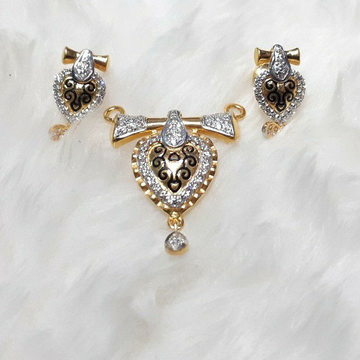 916 fancy mangalsutra pendant set