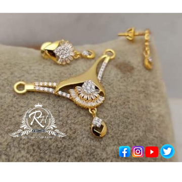 22 carat gold traditional mangalsutra pendent set RH-MS499