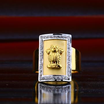 916 Gold Cz Mens Ring MHR56