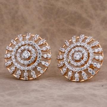 18 carat rose gold stylish ladies earrings RH-LE66...