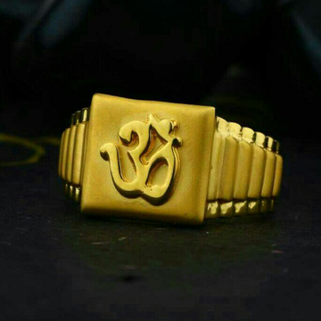 Om Palin Gold Casting Ring 916