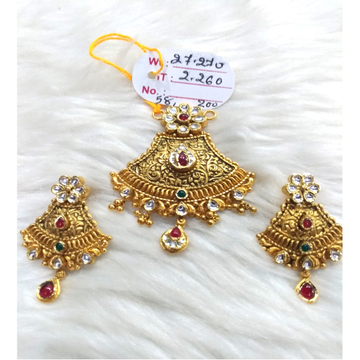 916 Gold Designer Pendant Set