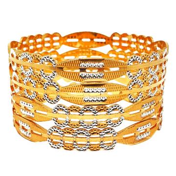 1 gram gold forming 4 piece bangles mga - bge0406