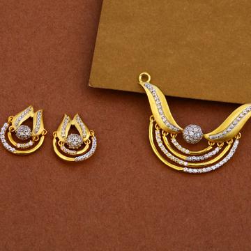 916 Gold Cz Fancy Pendant MP17