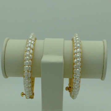White Rice Pearls 3 Layers Bangles JBG0088
