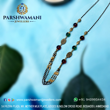 22kt Gold Three line Fancy mangalsutra for Women