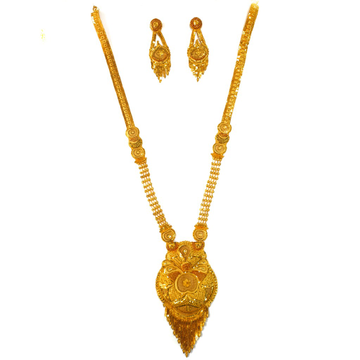 One gram gold forming necklace set mga - gfn0019