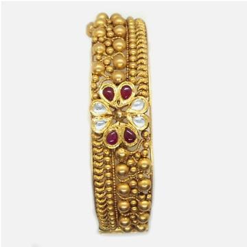 22K Gold Antique Bridal Kada Bangle RHJ-4980
