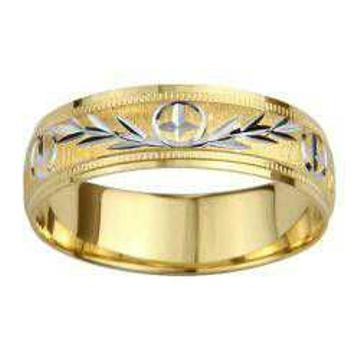 22KT Fancy Gold Leaf Design Ring