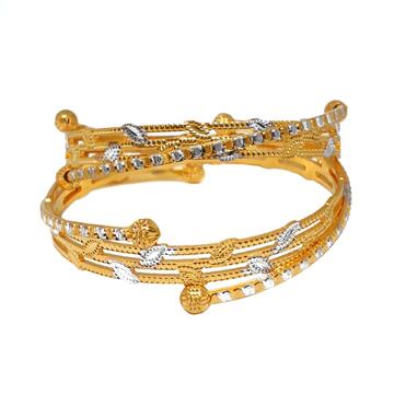 One Gram Gold Forming Modern Bangles MGA - BGE0461