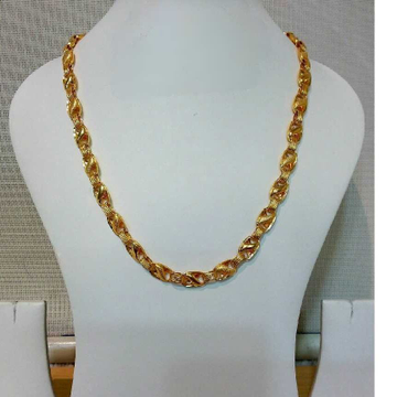916 Gents Fancy Gold Lotus Chain G-6411