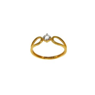 22K Gold Solitaire Diamond Ring MGA - LRG1175