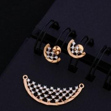 18 carat rose gold classical ladies pendants set RH-PS458