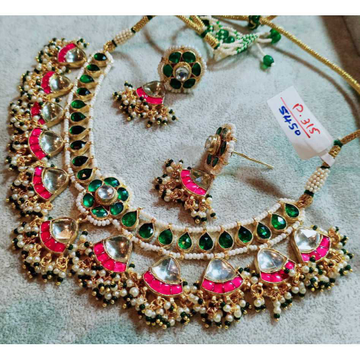 Colourful Kundan Attractive Necklace Set 1081