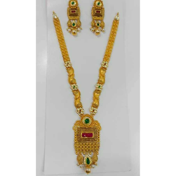 916 Gold Fancy Necklace Set by Vipul R Soni