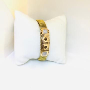 BRANDED FANCY ROSE GOLD BRACELET by