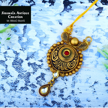 916 Gold Antique Jadtar Pendant JAP-0019