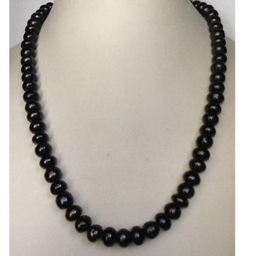 Fresh water black potato pearls necklace