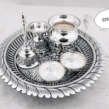 Silver pooja thali set jys0005
