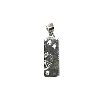 925 sterling silver rectangle shape pendant mga - pds0117