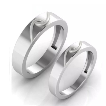 950 Platinum Amias Band Couple Ring For Unisex