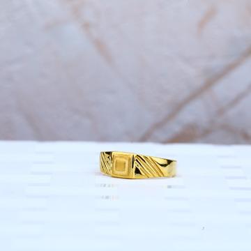Plain Gold 916 Cz Kid Ring-KR59