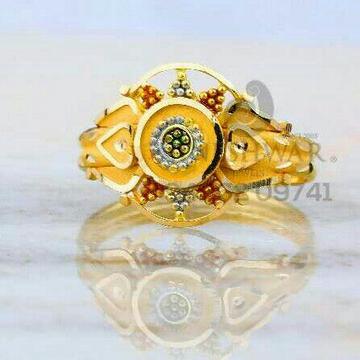 Plain Gold Fancy Ladies Ring LRG -0821
