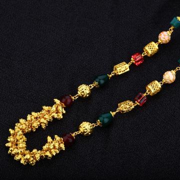 Gold 916 Fancy Cz Ladies Mala-AC07