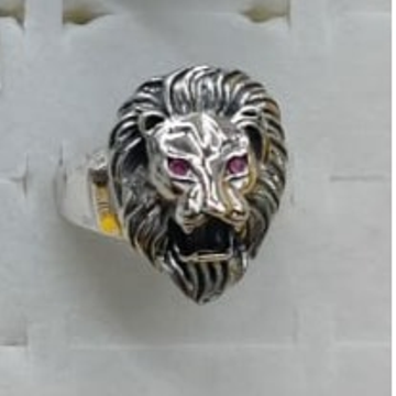 925 Silver Lion Design Ring by P.P. Jewellers