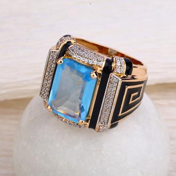750 Rose Gold Hallmark Men's  Ring RMR55