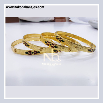 916 Gold Patra Bangles NB - 840