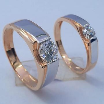 18KT Rose Gold Hallmark Wedding Ring  by Panna Jewellers