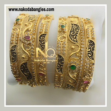 916 Gold Chakri Patla Bangles NB - 828