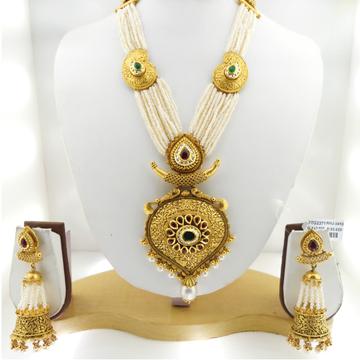 22KT Gold Antique Bridal Necklace Set RHJ-3410