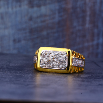 Mens 22K Gold Cz Ring-MR426