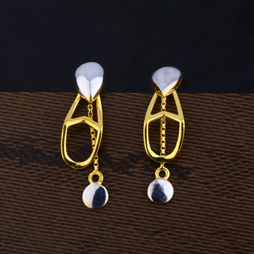 Ladies 22K Gold Plain Earring -LPE134