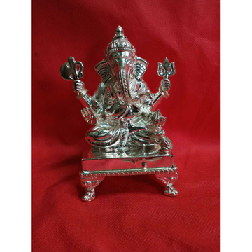 4(four) pillers dark finish ganpatiji murti(bhagvan,god,idols) ms-2331