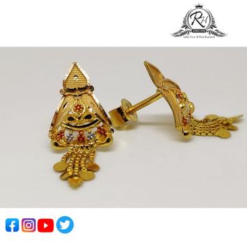 22 carat gold fancy ladies earring RH-ER858